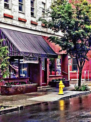 Photograph - Owego Ny - Fire Hydrant By Barber Shop by Susan Savad