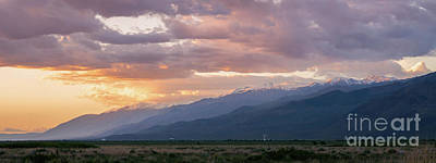 Photograph - Owens Valley Sunset by Michael Ver Sprill