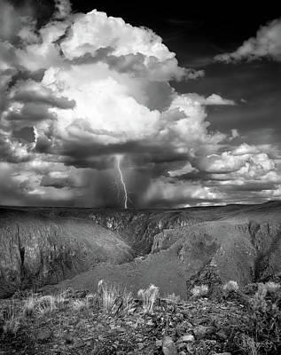 Photograph - Owhyee Lightning by Leland D Howard