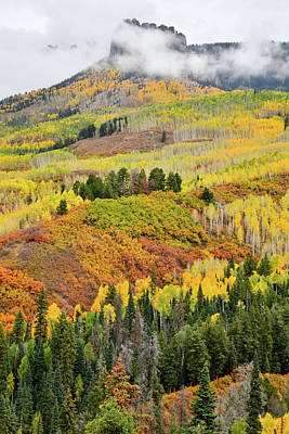 Photograph - Owl Creek Road Fall Colors Peak by Ray Mathis