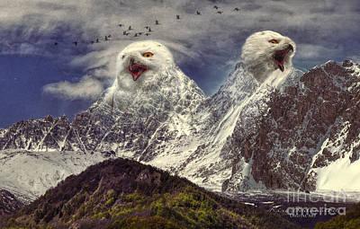 Owl Mountain Art Print