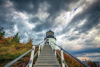 Photograph - Owls Head Lighthouse by Rick Berk