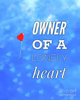 Digital Art Rights Managed Images - Owner of a Lonely Heart Royalty-Free Image by Esoterica Art Agency