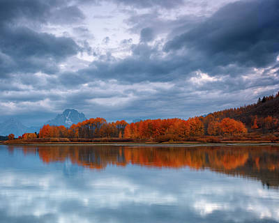 Photograph - Oxbow Bend Dawn by Wes and Dotty Weber