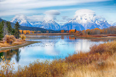 Photograph - Oxbow Bend Gtnp by Gerry Sibell