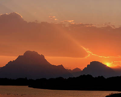 Photograph - Oxbow Sunset 2 by Mary Hone