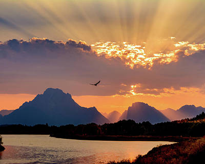Photograph - Oxbow Sunset by Mary Hone