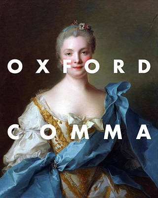 Digital Art - Oxford Comma Lyrics Print by Georgia Fowler