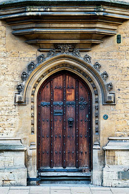 Photograph - Oxford University Wooden Door by Tim Gainey