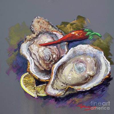 Painting - Oysters And Cayenne by Dianne Parks