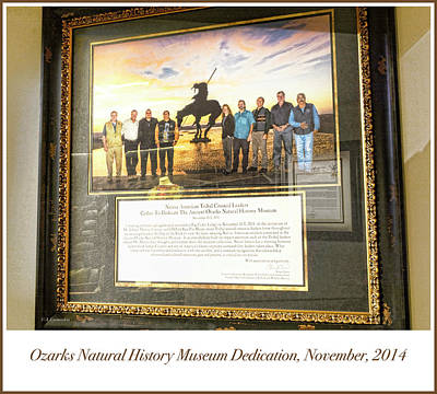 Photograph - Ozarks Natural History Museum Dedication Photograph by A Gurmankin