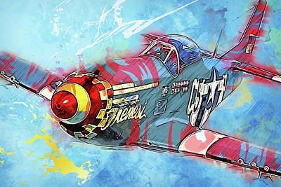 Painting - P-51 Mustang - 22 by Andrea Mazzocchetti