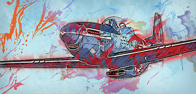 Painting - P-51 Mustang - 25 by Andrea Mazzocchetti