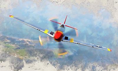 Priska Wettstein Pink Hues - P-51 Mustang - 33 by AM FineArtPrints