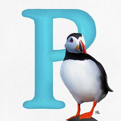 Painting - P Is For Puffin by Tammy Lee Bradley