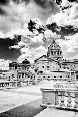 Photograph - Pa Capital From The Rear by Paul W Faust - Impressions of Light