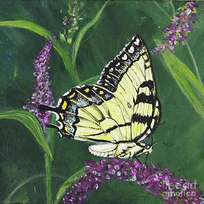 Painting - pa75 Yellow Swallowtail by Lizi Beard-Ward