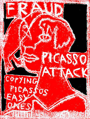 Digital Art - Pablo Picasso Attack 6 by Artist Dot
