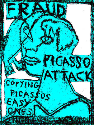 Digital Art - Pablo Picasso Attack 7 by Artist Dot