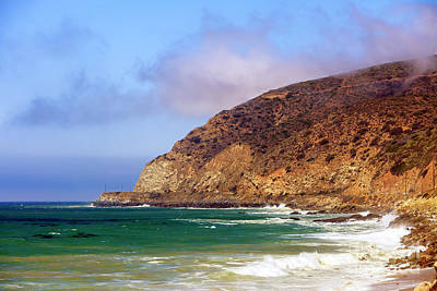 Photograph - Pacific Coast Highway View In Malibu by John Rizzuto