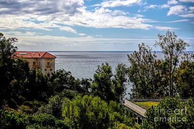 Photograph - Pacific Ocean View From Jp Getty Villa California  by Chuck Kuhn