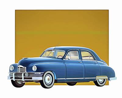 Digital Art - Packard Eight Sedan 1948 by Jan Keteleer
