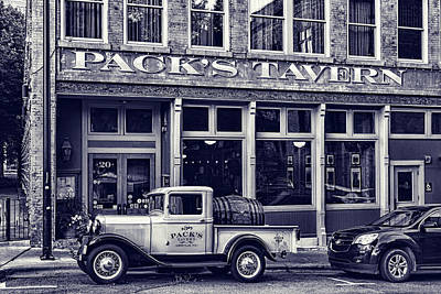 Photograph - Packs Tavern Black And White by Sharon Popek