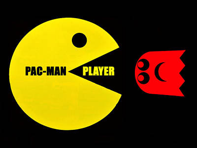 Pacman Wall Art - Digital Art - Pacman Player Design A by David Lee Thompson