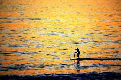 Soap Suds - Paddle Boarder Malibu by John Rodrigues