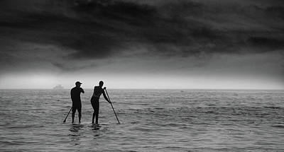 Photograph - Paddle Boarders by John Rodrigues