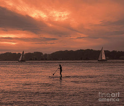 Photograph - Paddleboarding On The Great Peconic Bay by Jeff Breiman