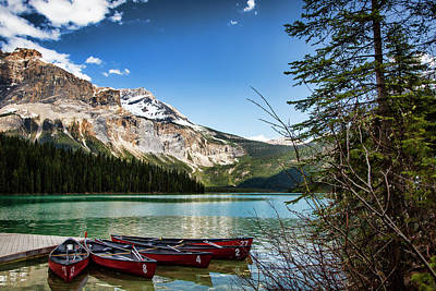 Photograph - Paddles For Emerald Lake by Monte Arnold