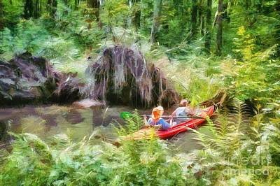 Painting - Paddling In The Spreewald by Eva Lechner