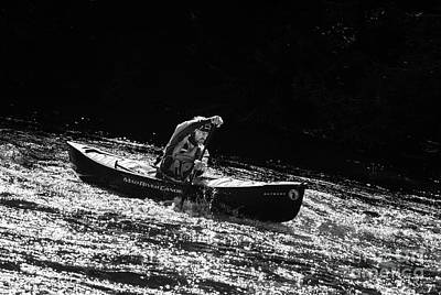 Photograph - Paddling On Glitter by Les Palenik