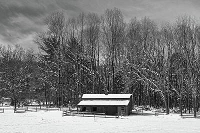 Photograph - Paddock On A Snowy Winter Day by Walter Rowe