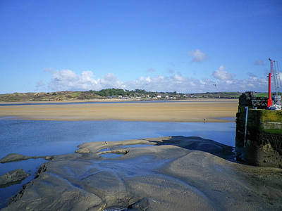 Photograph - Padsow Cornwall Harbour Entrance At Low Tide by Richard Brookes