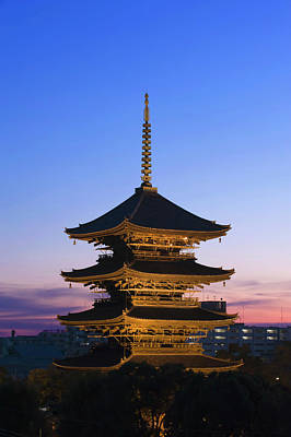 Photograph - Pagoda At Sunset, To-ji Temple, Kyoto by Danita Delimont
