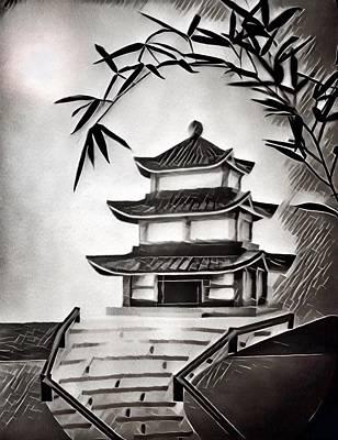 Photograph - Pagoda by Mark Fuller