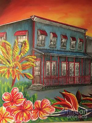 Painting - Pahoa Town by Michael Silbaugh