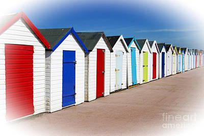 Photograph - Paignton Beach Huts by David Birchall