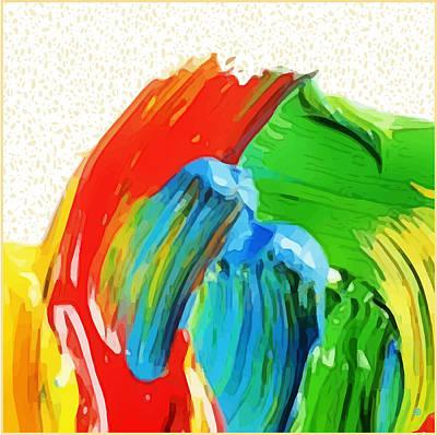 Digital Art - Paint Brush Strokes by Gary Grayson