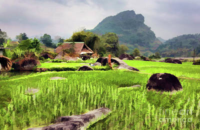 Digital Art - Paint Digital Vietnam  by Chuck Kuhn