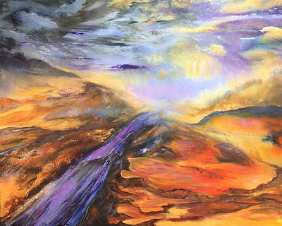 Painting - Paint Rock Texas by Terry R MacDonald
