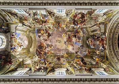 Photograph - Painted Ceiling Of The Church Of Saint Ignatius Of Loyola by Weston Westmoreland
