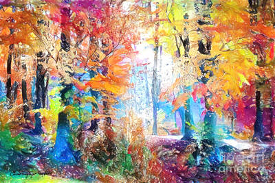 Painting - Painted Forest by Chris Armytage