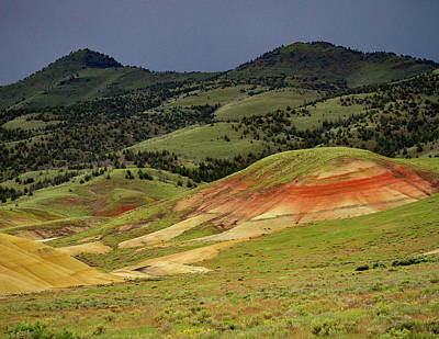 Photograph - Painted Hills Under Clouds by Jean Noren