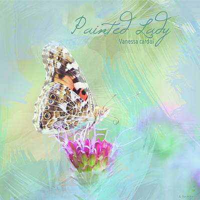 Photograph - Painted Lady Watercolor Photo by Heidi Hermes