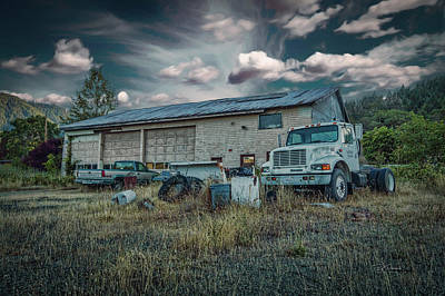 Photograph - Painted Skies Garage by Bill Posner