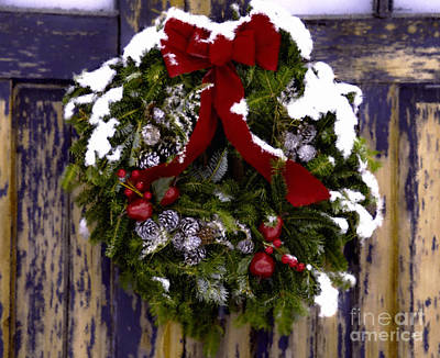 Photograph - Painted Wreath by Alana Ranney