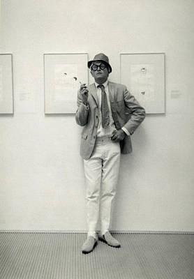 Photograph - Painter David Hockney At The John by Basil Langton